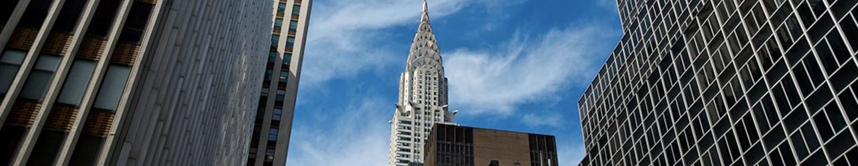 Chrysler building in Manhattan seen from the street.